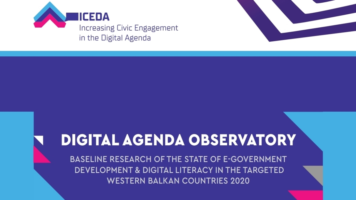 Digital AgendaObservatory- Baseline research of the state of e-government development & digital literacy in the targeted Western Balkan countries 2020
